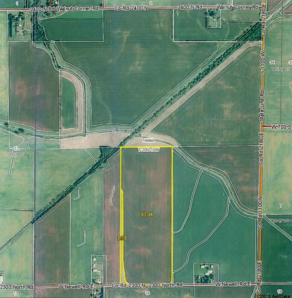 Illinois vermilion county armstrong - State Line Farm 2 20 Acres In Newell Township Vermilion County Illinois